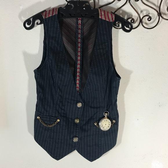 Vintage Jackets & Blazers - Handmade Steampunk Alice Wonderland Rabbit Vest
